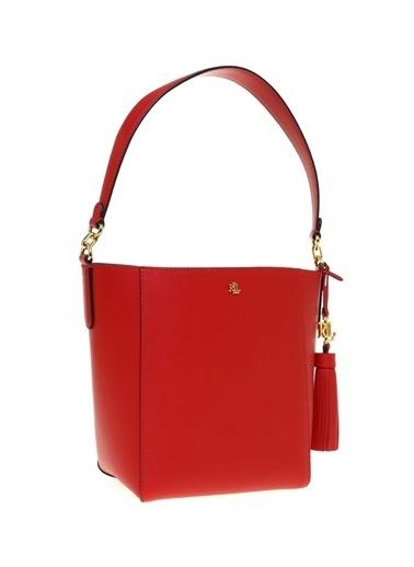Ralph Lauren Lauren Ralph Lauren Kırmızı Deri Hobo Çanta Kırmızı